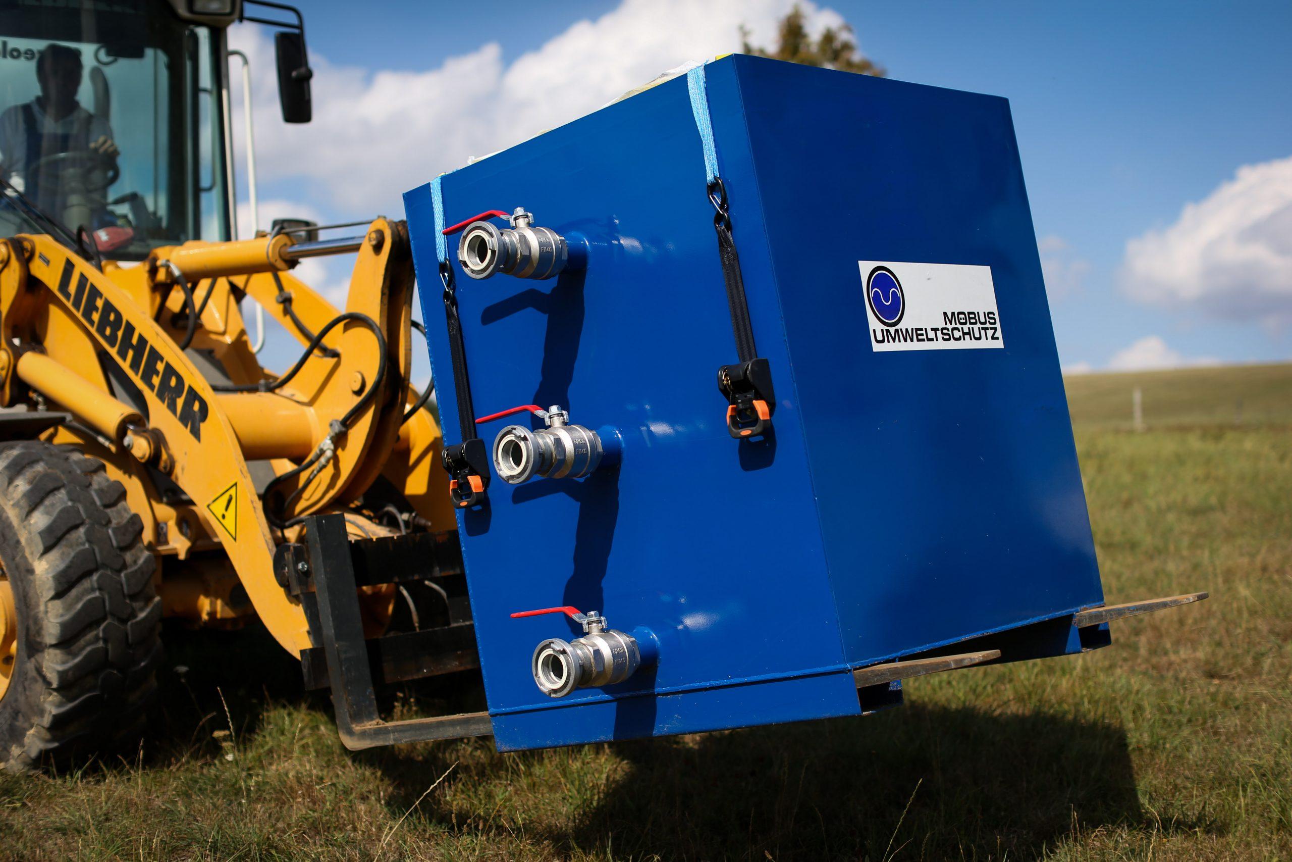 Entwässerungscontainer EWC mit Filterträger für BIG-BAG Filter zur Schlammentwässerung
