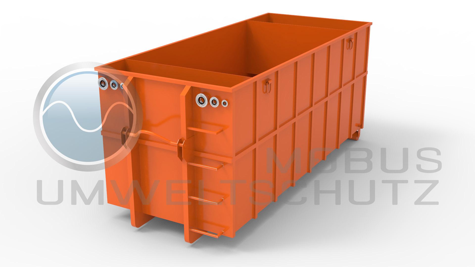 Absetzbecken 25cbm als Abrollcontainer nach DIN 30722