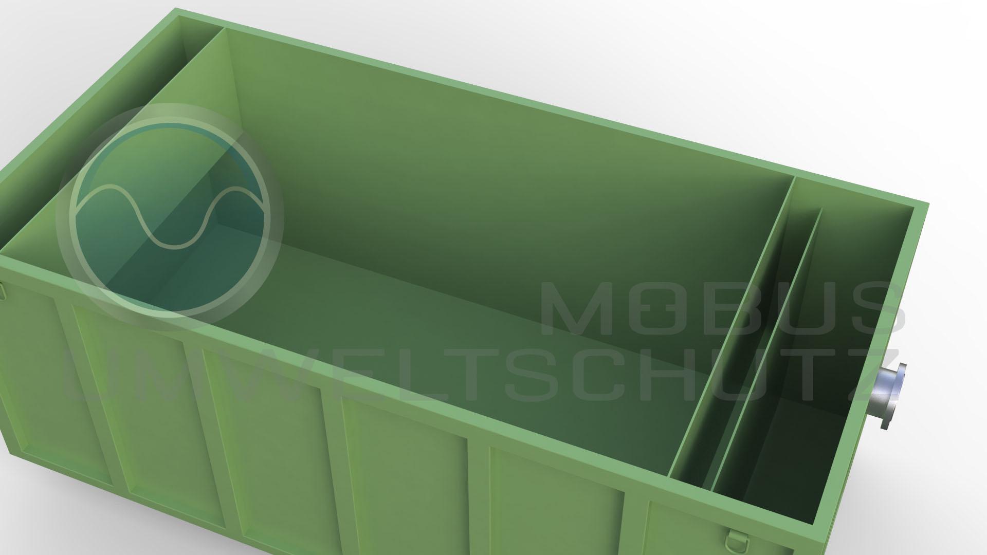 DIN30722 Absetzbecken / Sedimentationsbecken mit Auslaufflansch DIN 2633 DN150 PN10