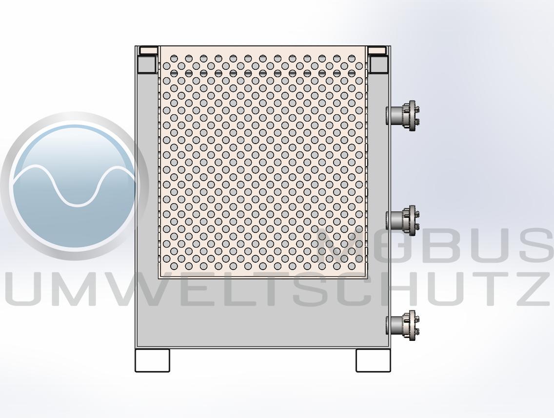 Schematische Darstellung Entwässrungscontainer mit Filterträger