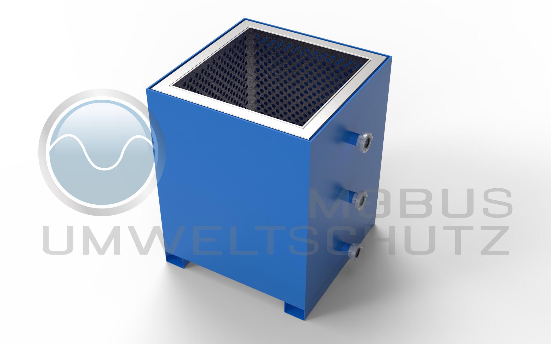 Entwässerungscontainer zur aufnahme von BIG BAG Filtersäcken