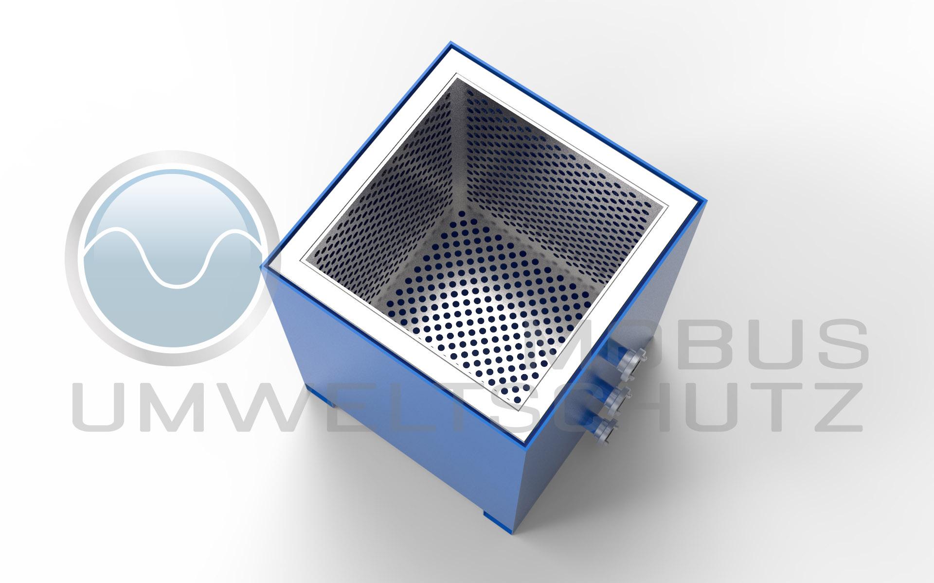 Entwässerungscontainer mit Filterträger