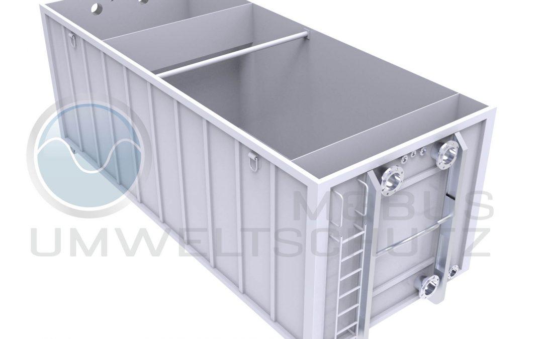 Absetzbecken 30cbm als Abrollcontainer nach DIN 30722