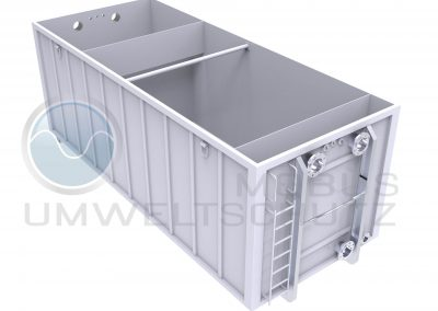 Settling basin 30cbm as roll-off container according to DIN 30722