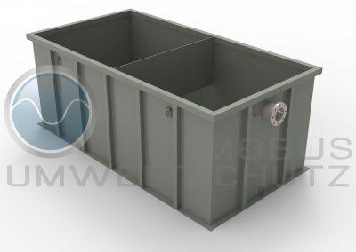 Settling basin 10cbm with impact wall