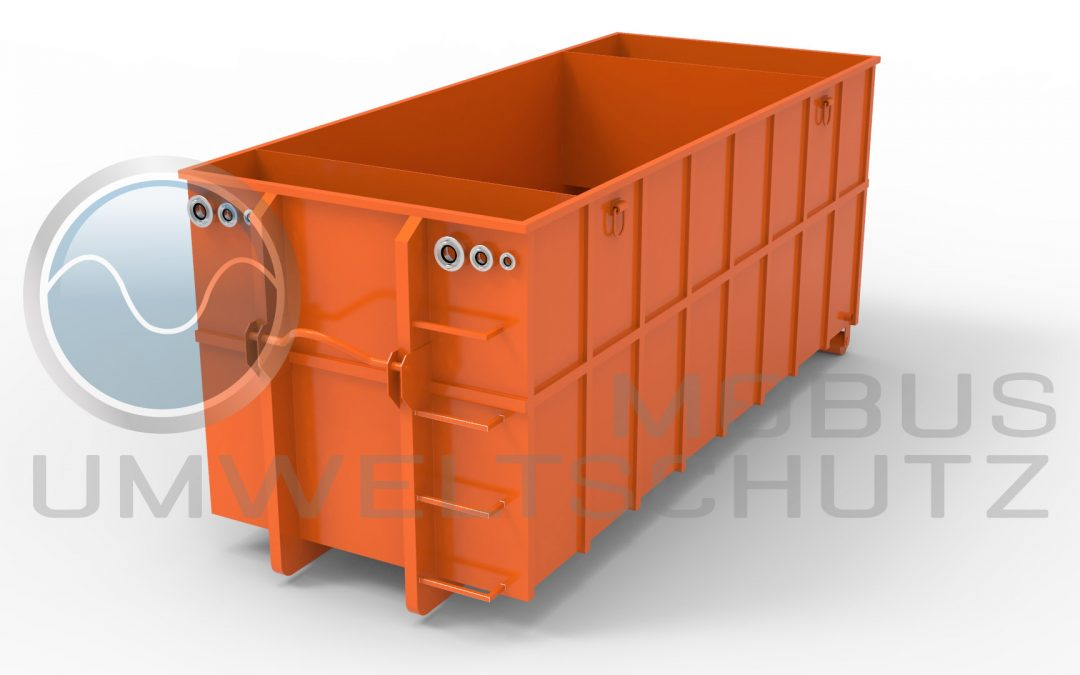 Settling basin 25cbm as roll-off container according to DIN 30722