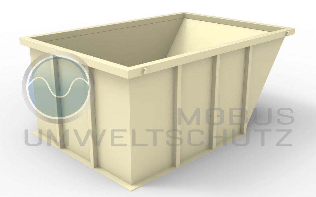 Construction waste trough about 10cbm