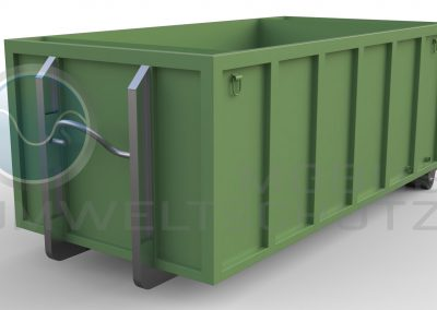 Settling basin 10cbm as roll-off container according to DIN 30722