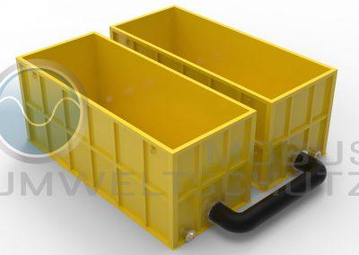 Storage basin 30cbm as extinguishing water storage tank